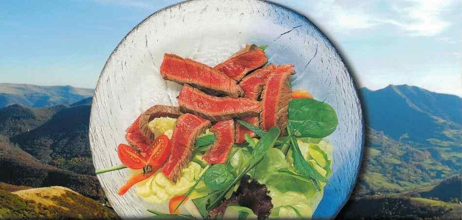 Salade de boeuf printaniere